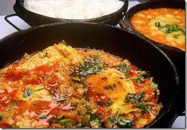 Moqueca Capixaba com pirão e arroz