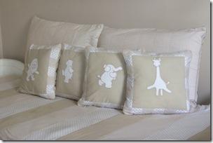 Almofadas especiais para o quarto do bebe