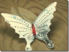 A borboleta já está pronta para ser usada