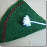 Costure o chapéu do elfo