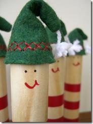 Os pinos são pequenos elfos