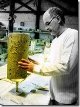 Edmundo Campos emseu atelier