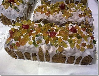 Bolo de Natal com frutas cristalizadas da Vó Ana