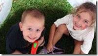 As crianças na cabana