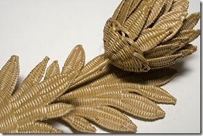 Flor de fibra do talo do coco