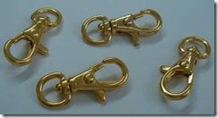 Mosquetão para chaveiro cor dourada