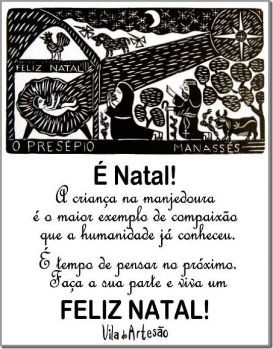 Cartão presépio de Manassés Borges