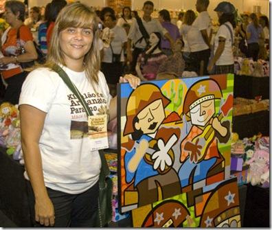 Karina Oliveira e seu trabalho no Salão de Artesanato