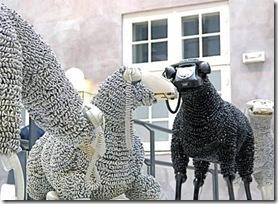 Ovelhas feitas com telefones de disco, de Jean-Luc Cornec