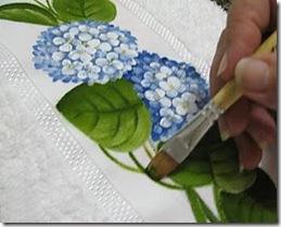 Pinte os ramos das flores