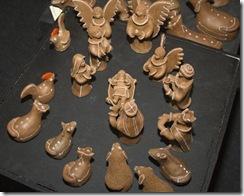 Detalhe dos bichos do presépio em cerâmica