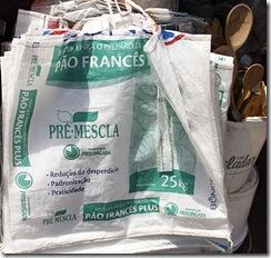 Sacolas ecológicas de saco de farinha