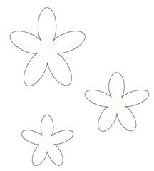 Molde das pétalas da flor de tecido