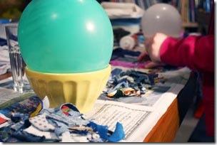Use como suporte um balão