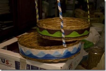 Duas opções de decoração das laterais da cesta