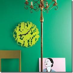 O design transforma esse relógio apenas com números