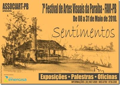 7º Festival de Artes Visuais da PB com o tema Sentimentos