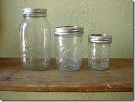 Escolha vidros de tamanhos diferentes