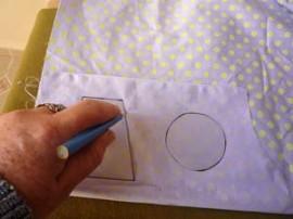 Transfira os moldes para o tecido