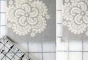 Corte o tecido para a base e apare as pontas