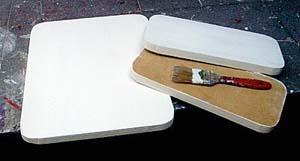 Pinte suas madeiras com tinta PVA branca