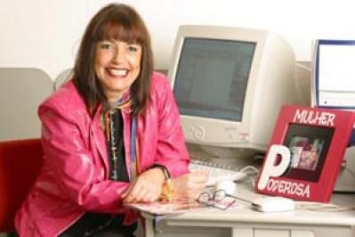 Angela Magrinha quando era Editora da revista Poderosa