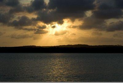 Por do sol no Jacaré
