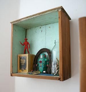 Gaveta prateleira, para coleções e objetos especiais