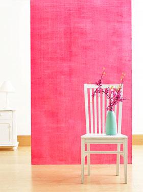 Parede rosa com textura imitando tecido