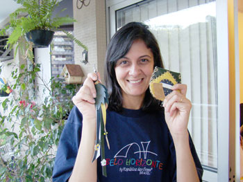 Elen Ribeiro, ganhadora dos presentes da Ivânia Barreto