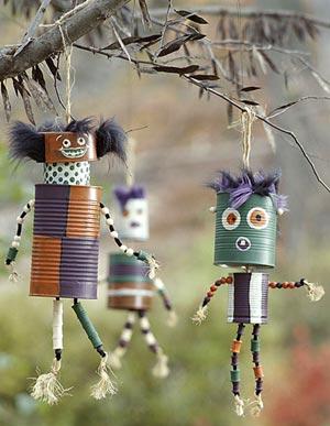 Bonecos de Vodu feitos com latinhas