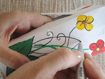 Desenhe detalhes bacanas