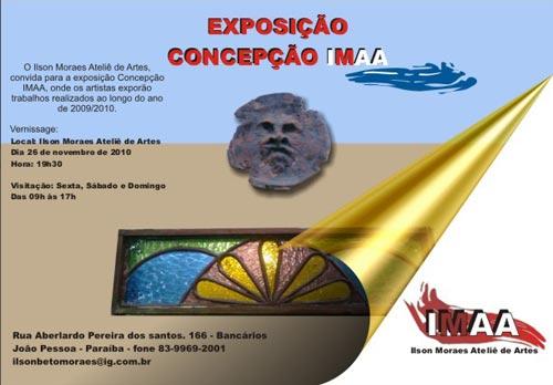 Convite para a exposição Concepção no IMAA