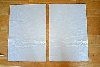 Corte dois retângulos para o verso