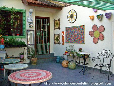 Atelier Além da Rua, um espaço pra você se inspirar e fazer cursos de mosaico