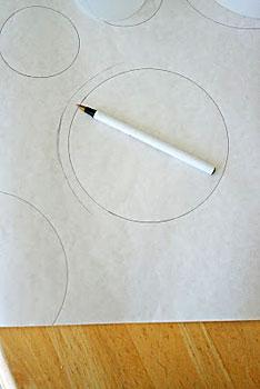 Desenhe círculos para decorar