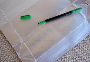 Desenhe uma estrela na embalagem