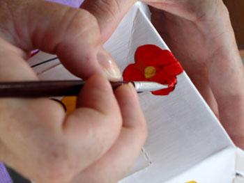 Pinte os desenhos