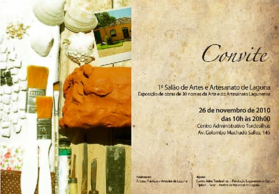 Convite para o 1º Salão de artes e artesanato de Laguna