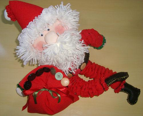 Papai Noel de fuxicos, uma dica da Manoela Nunes