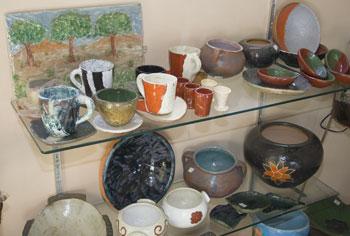 Cerâmicas produzidas pelos alunos de Eduardo Balbino