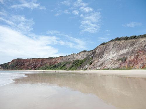 Falésias de Tabatinga, uma praia super tranquila