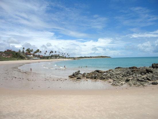 Praia de Tabatinga de uma ponta até a outra