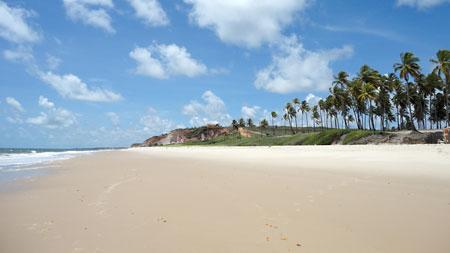 Barra do Graú olhando em direção à Praia Bela