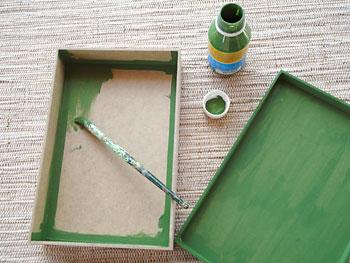Primeiro pinte a caixa de MDF