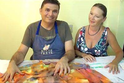 Vídeo Aula de Tie Dye, técnica de tingimento de tecidos