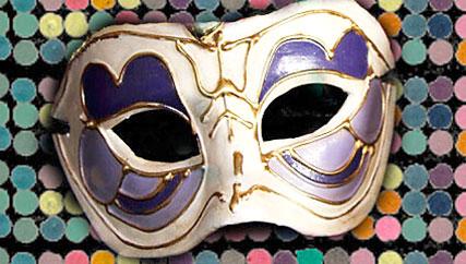 Máscara de carnaval no estilo de Veneza