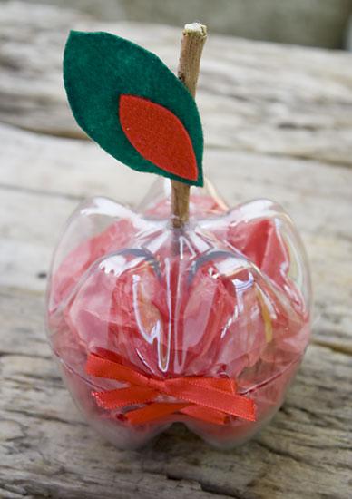 Fechada, a embalagem de pet é uma perfeita maçã