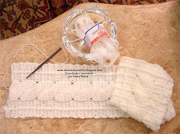 Como fazer cachecol em crochê
