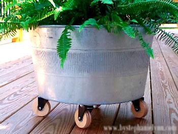Coloque o seu vaso de plantas dentro do cachepo